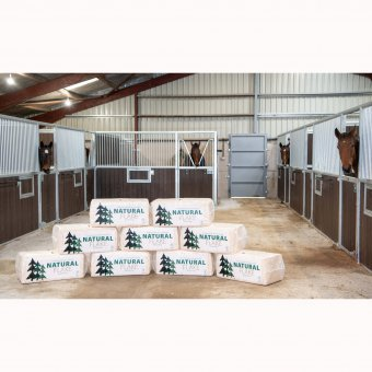 dry natural flake wood shavings horse bedding stable bale